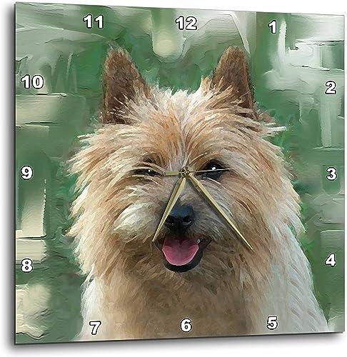 3dRose DPP_4016_1 LLC Cairn Terrier Wall Clock, 10 by 10-Inch