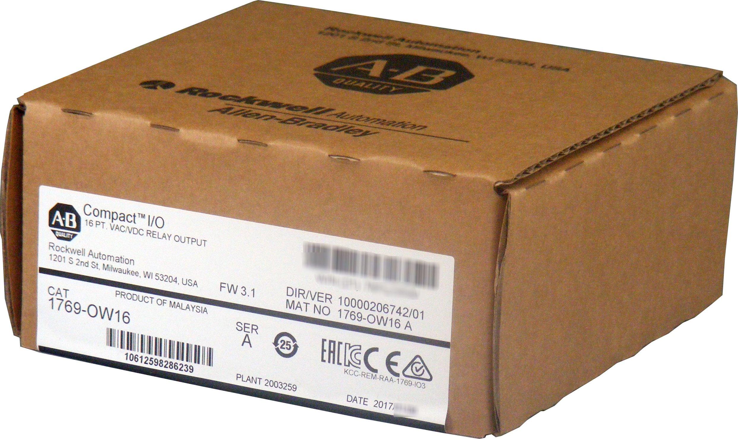 Allen Bradley 1769-OW16 Compact I/O Digital Output Module, 16-Point, 5 - 265 VAC / 5-125 VDC, Relay