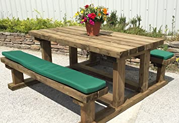 Superieur Pack Of Two Picnic Bench Seat Cushions (Natural, 180cm)