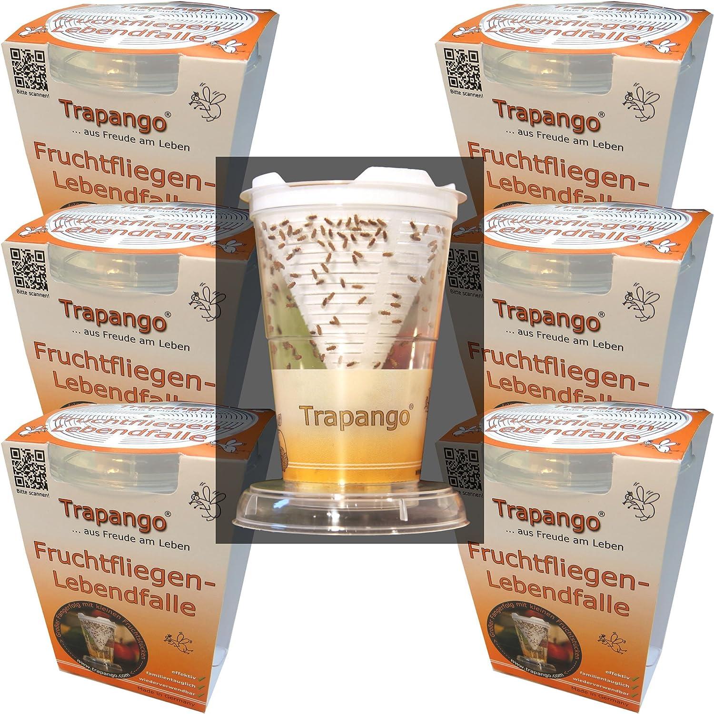 6x Fruchtfliegen-Lebendfalle Trapango®, (6er-Pack) MACUR