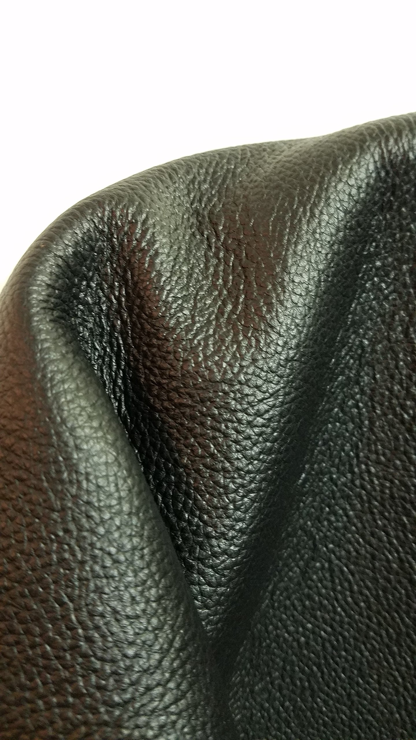 BLACK ELITE NAKED COW HIDE LARGE LEATHER SKINS 20-23 SQ.FT. 2.5 OZ. UPHOLSTERY BOOK CHAP NAT LEATHERS (20-23 SQ.FT.) 32''X 60'' by NAT Leathers (Image #4)