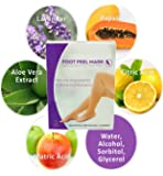 Foot Peel Mask - Exfoliating & Purifying Peel Off Callus Remover Unisex Foot Mask Booties With Botanical Extracts & Natural Ingredients to Give You Baby Feet, Lavender Scented (2 Pairs Per Box)