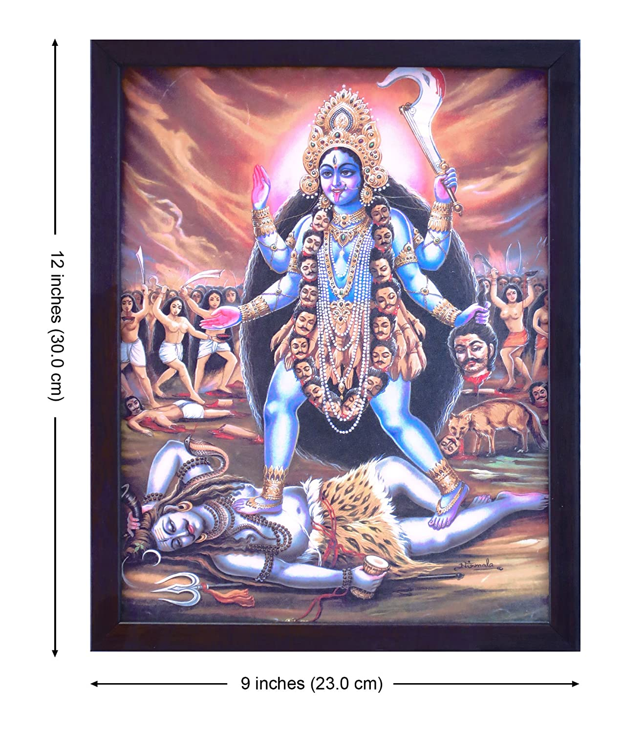 Amazon com: Handicraft Store Hindu Goddess Maa Kali with