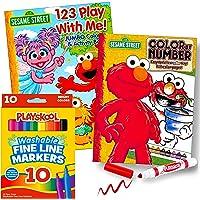 Sesame Street Coloring Book Set (Color by Number)