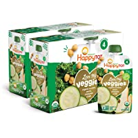 Happy Tot Organic Stage 4 Baby Food Love My Veggies Zucchini/Pear/Chickpeas & Kale...