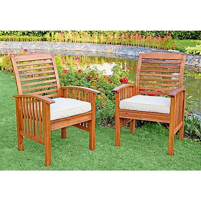 Amazon.com: Juego de comedor WE Furniture, de madera de ...
