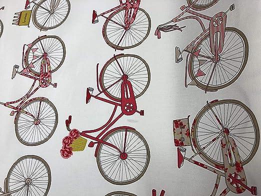 Tissu Bicyclettes rose