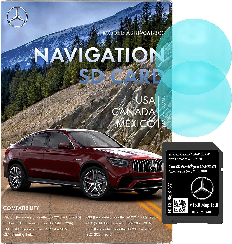 Mercedes Benz Navigation SD Card   Garmin Pilot A2189068303   2019/2020 GPS   Version 13.0   010-12653-0F   Anti Fog Rearview Mirror Sticker Included