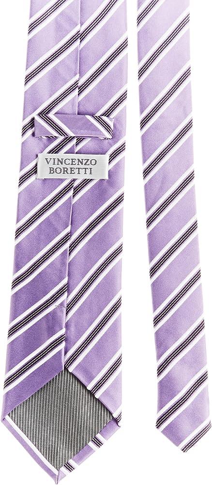 VB – Corbata Azul, Morado, Blanco, rayas), color violeta oscuro ...