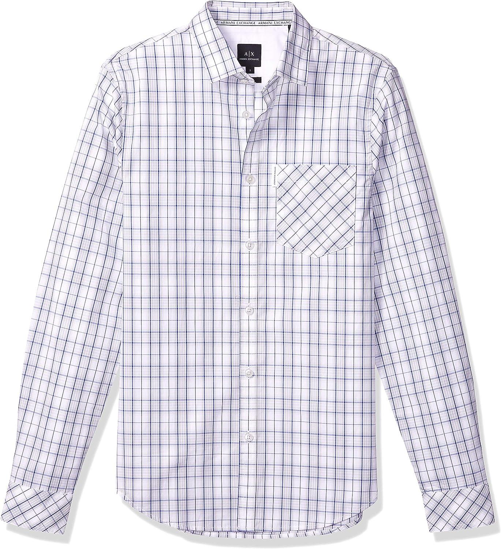 AX ARMANI EXCHANGE 6GZC03-ZNSAZ - Camisa de Hombre para otoño/Invierno: Amazon.es: Ropa y accesorios