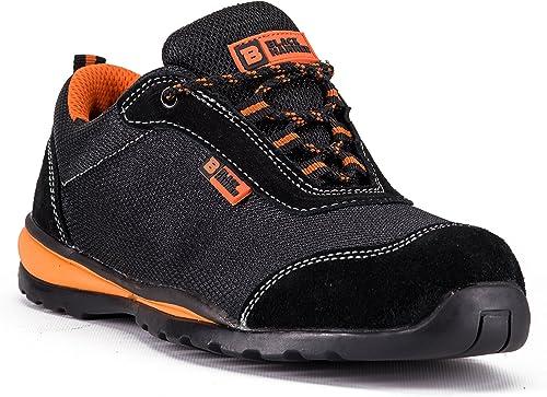 Black Hammer Steel Toe Shoes Men Work