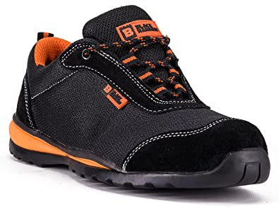 Amazon Com Black Hammer Steel Toe Shoes Men Work Safety Sneakers