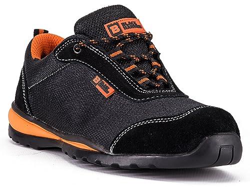 Zapatillas de Seguridad ultraligeras con Puntera de Acero y Entresuela de Kevlar. Ideales para el