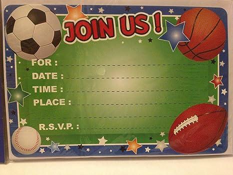 Amazon.com: (10) deportes fútbol invitaciones de fiesta para ...