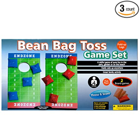 Amazon.com: 123-Wholesale - Set of 3 Toss n Score Bean Bag Toss Game Set - Games Tabletop Games: Sports & Outdoors