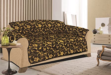 Fantastic Quilted Sofa Chair Settee Pet Protector Slip Cover 1 2 3 Seater 6 Colours New Arrival 2 Seater Black Gold Beatyapartments Chair Design Images Beatyapartmentscom
