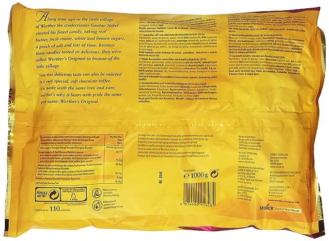 WertherS Original - Toffee blandos cubiertos en chocolate - Caramelos - 1000 g: Amazon.es: Alimentación y bebidas