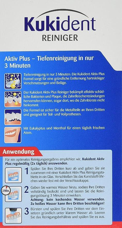 Kukident Aktiv Plus Express, Pack de 3 x 99 Tabletas: Amazon.es: Salud y cuidado personal
