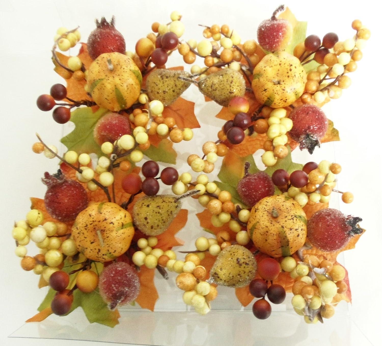 Pumpkin Harvest Bouquet Napkin Rings Set of 4