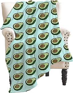 ARRISUM Novelty Fruit Food Avocado Blanket Super Soft Flannel for Bed Sofa Lightweight Blanket Throw All Season 50