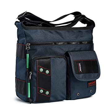 Amazon.com  Crossbody Bag, Messenger Bags Purse Shoulder Working Bag Casual  Multi Pocket Nylon Travel Handbags for Men Women  Nicgid 6f211e86bc