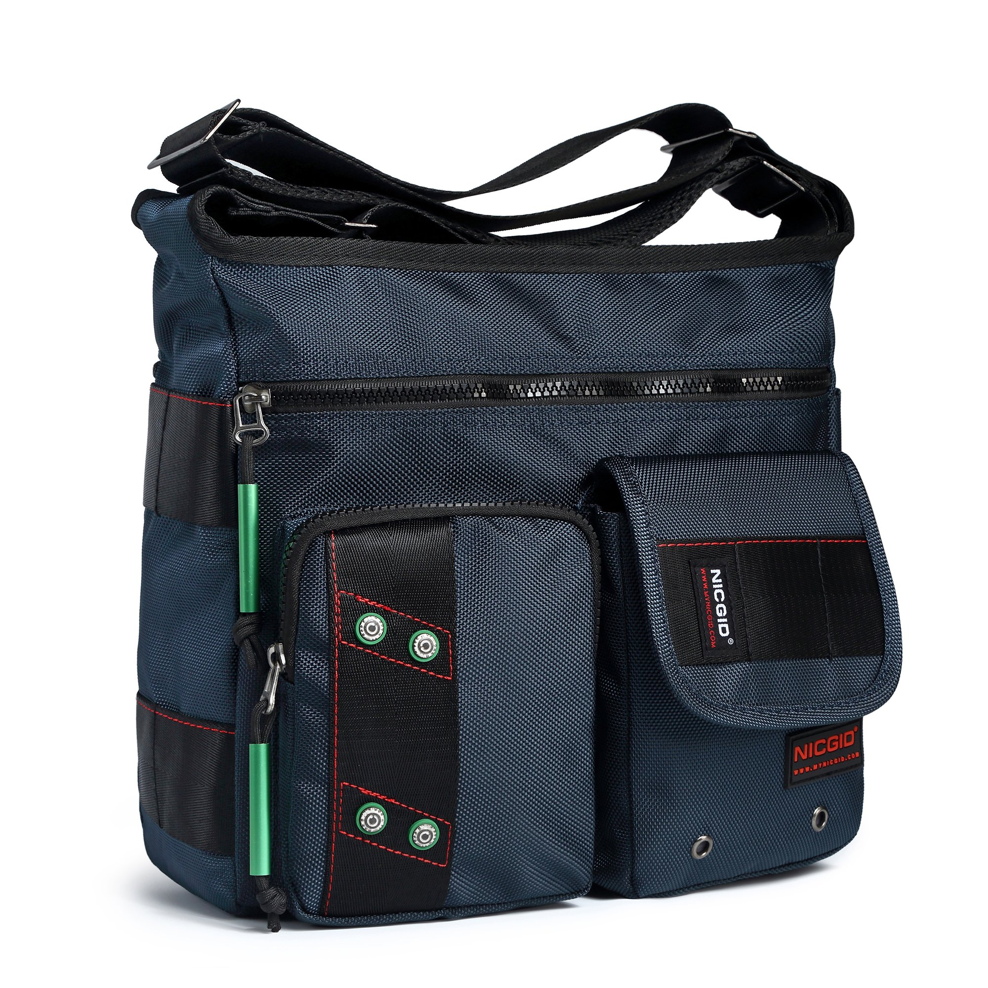 Crossbody Purse Bags, Messenger Crossbody Bag Multi Pocket Shoulder Bag Travel Handbags for Men Women