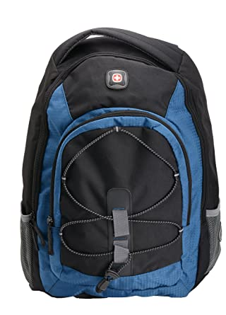 4a7f975a5b10 Image Unavailable. Image not available for. Color  Swiss Gear Computer  16 quot  Backpack Black Blue