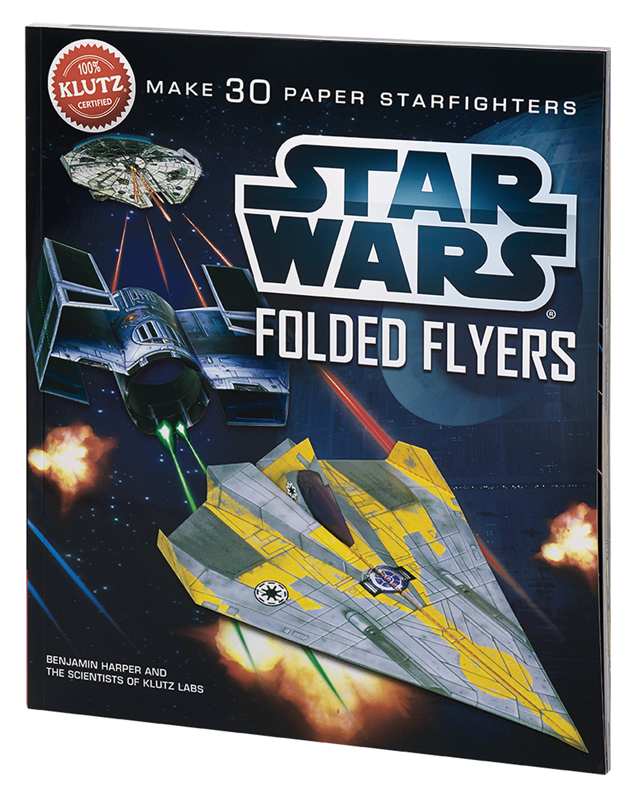 amazon star wars folded flyers klutz benjamin harper models