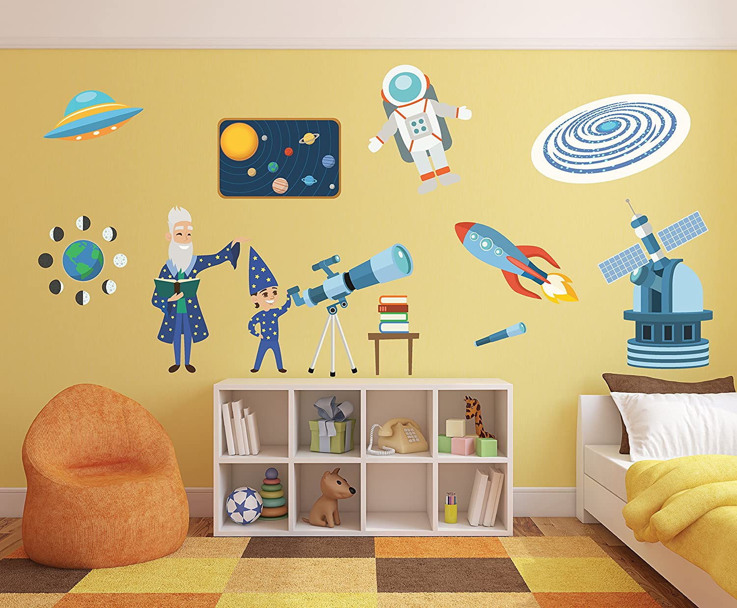 Amazon.com: Science Decorations//Kids Science Decals//Solar System ...