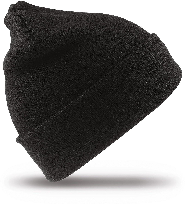 Result Headwear Damen Herren Gestrickte Ski-Mütze RC029X Black