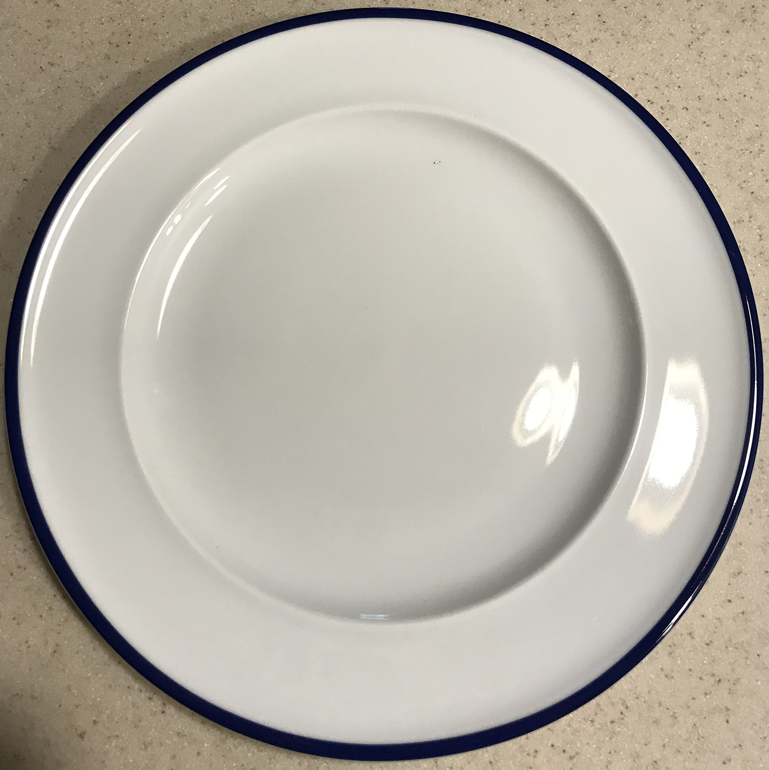 Fitz and Floyd Everyday White 9-inch Blue Rim Salad Plate by Fitz and Floyd
