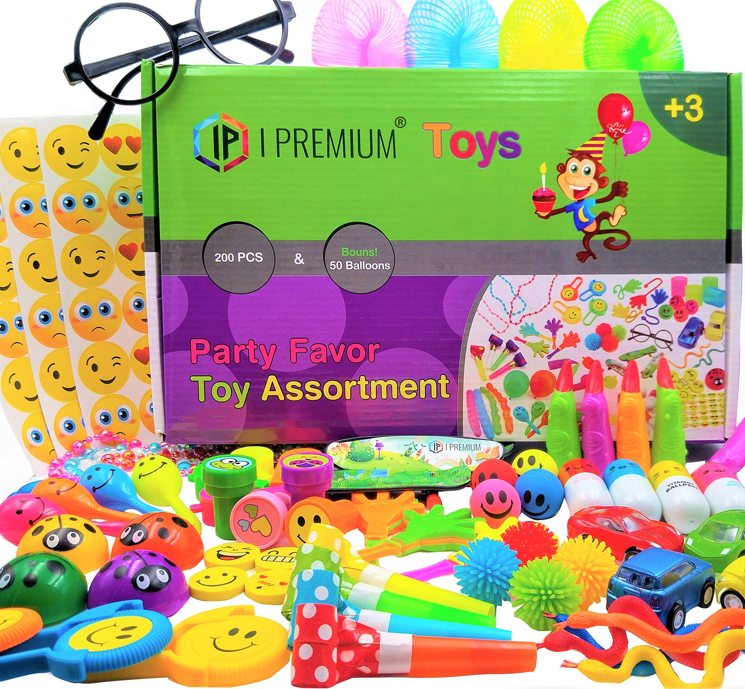 IP I Premium 250 PCS Toy Assortment, Party Favors For Kids, Bulk Toys Best As Pinata Filler, Goodie Bag Fillers, Treasure Box Prizes For Classroom, Carnival And For Birthday. For Boys And Girls