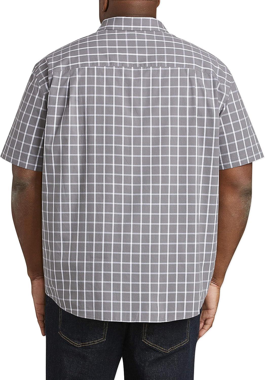 Essentials mens Big /& Tall Short-sleeve Plaid Shirt