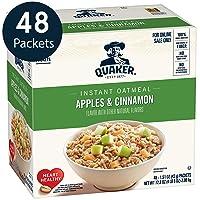 48-Pack Quaker Instant Oatmeal, Apples & Cinnamon