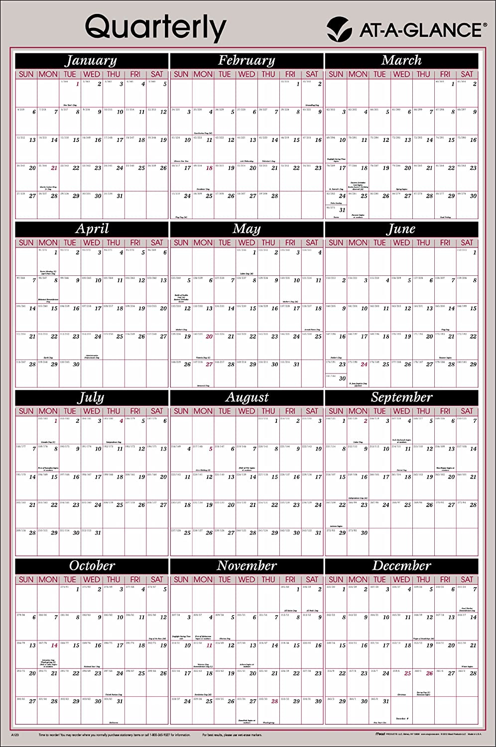 AT-A-GLANCE 2014 Grünical and Horizontal Erasable Yearly Wall Wall Wall Planner, 36 x 24 Inch Page Größe (A123) by At-A-Glance B00D515N12 | Gute Qualität  7f1b91