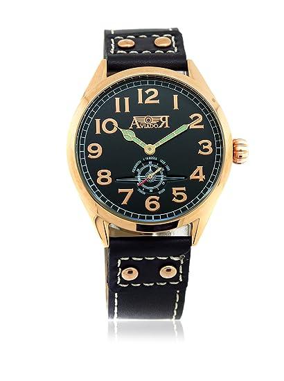 AVIADOR Reloj con movimiento japonés AV-1024 42 millimeters: Amazon.es: Relojes