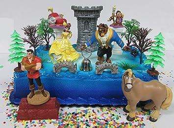 Amazoncom Beauty and the Beast Birthday Cake Topper Set