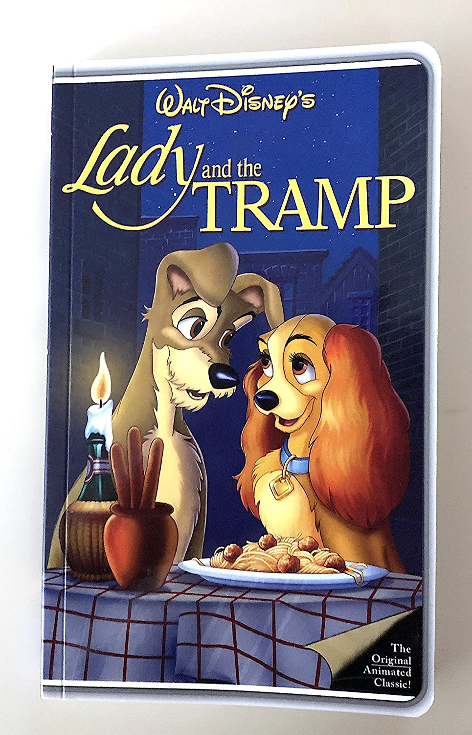 Amazon Com Disney Parks Lady And The Tramp Vhs Cover Blank Book Journal Diary Everything Else