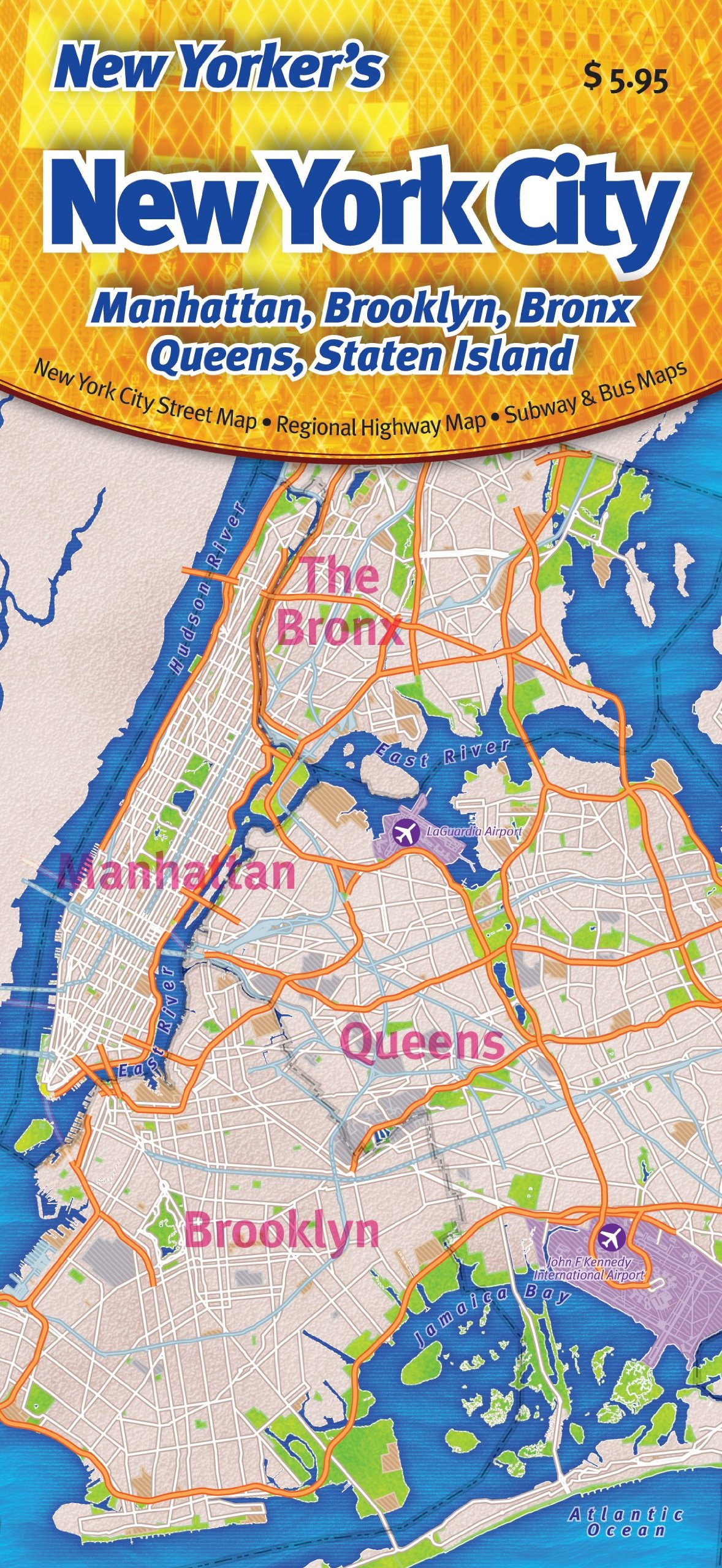 brooklyn map new york New Yorker S New York City Map Manhattan Brooklyn Bronx Queens brooklyn map new york