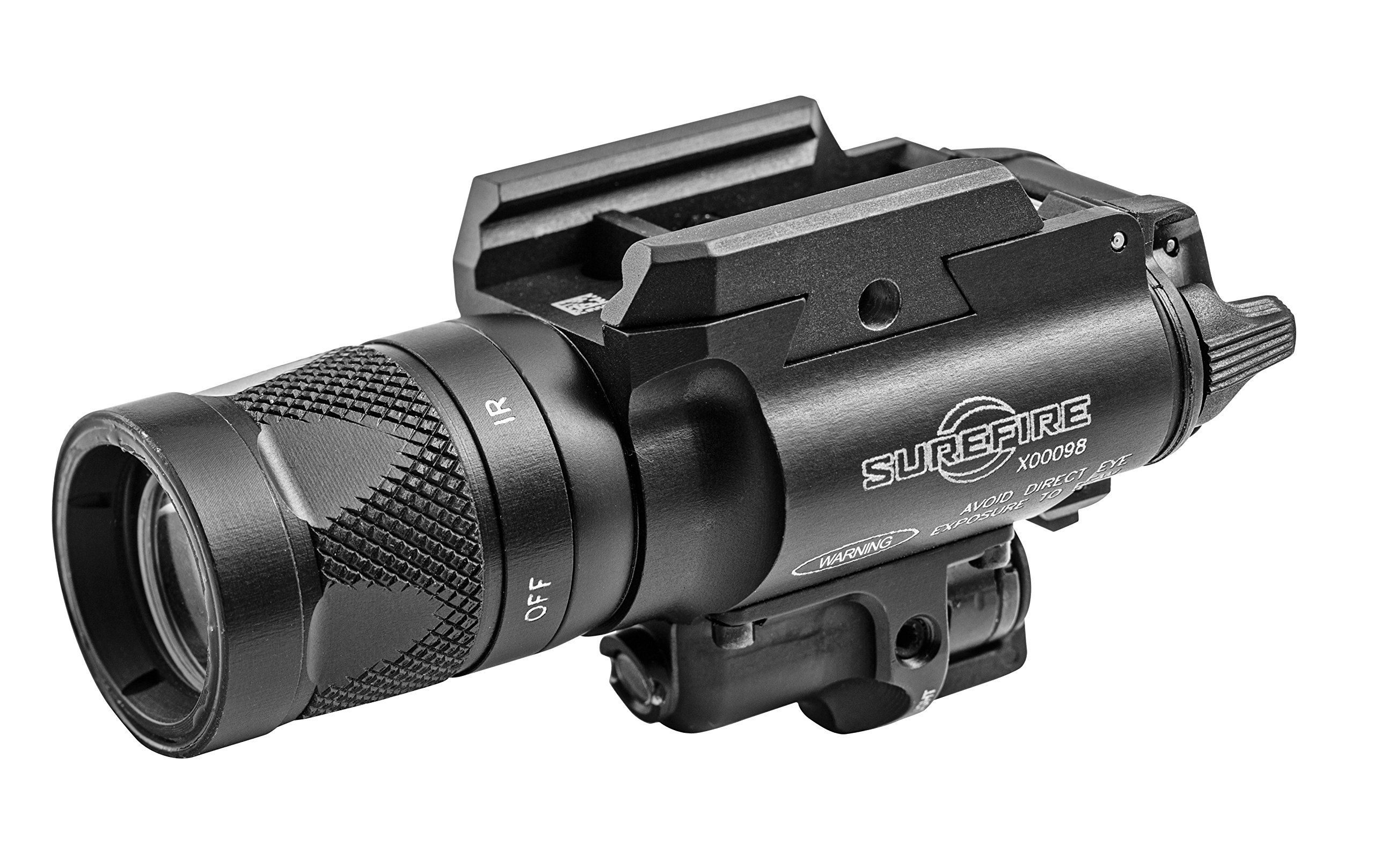 SureFire X400V IRc LED Handgun or Long Gun WeaponLight with IR Output and Infrared Laser Sight