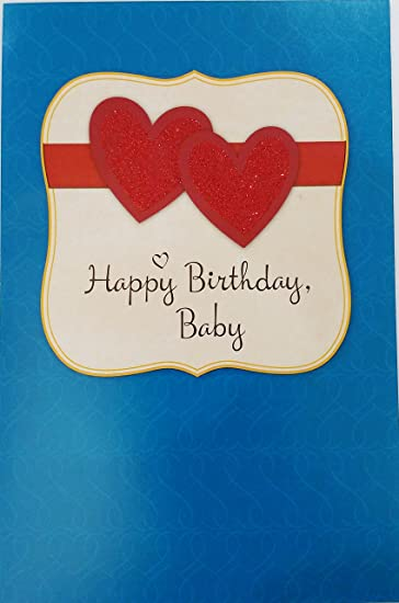 Amazon Com Happy Birthday Baby Romantic Greeting Card For Lover
