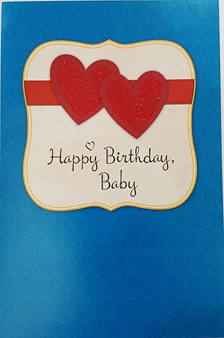 happy birthday baby romantic greeting card for lover husband wife boyfriend