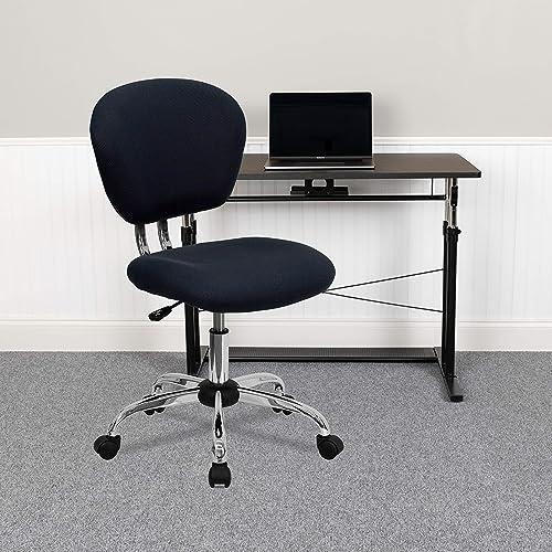 Lancaster Home Mid-Back Mesh Padded Swivel Task Office Chair