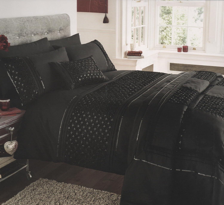Luxurious Petra Black Duvet Cover Set - King Size - Embellished ...