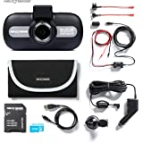 Nextbase 512GW 1440p HD In-Car Dash Camera Video Recorder with WiFi and GPS, Bundle Kit with Mount, Hardwire Kit, 32GB SD Card and Case