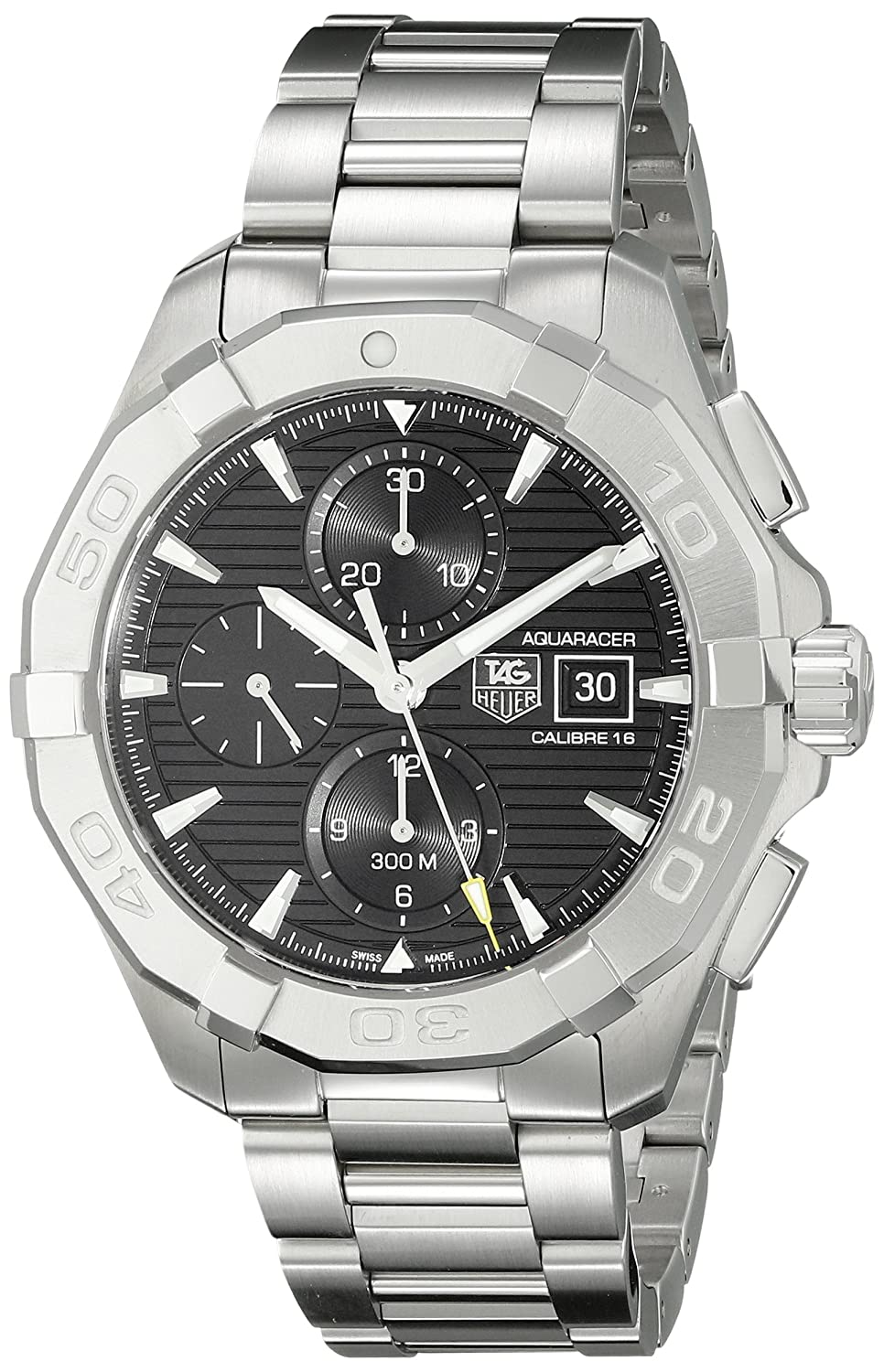 TAG Heuer Men s CAY2110.BA0925 Analog Display Swiss Automatic Silver Watch
