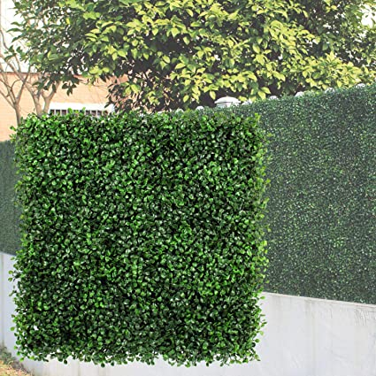 Genpar Artificial Boxwood Panels 12 Pieces 20 X 20 Cover 33 Sq Ft Topiary Hedge Plant
