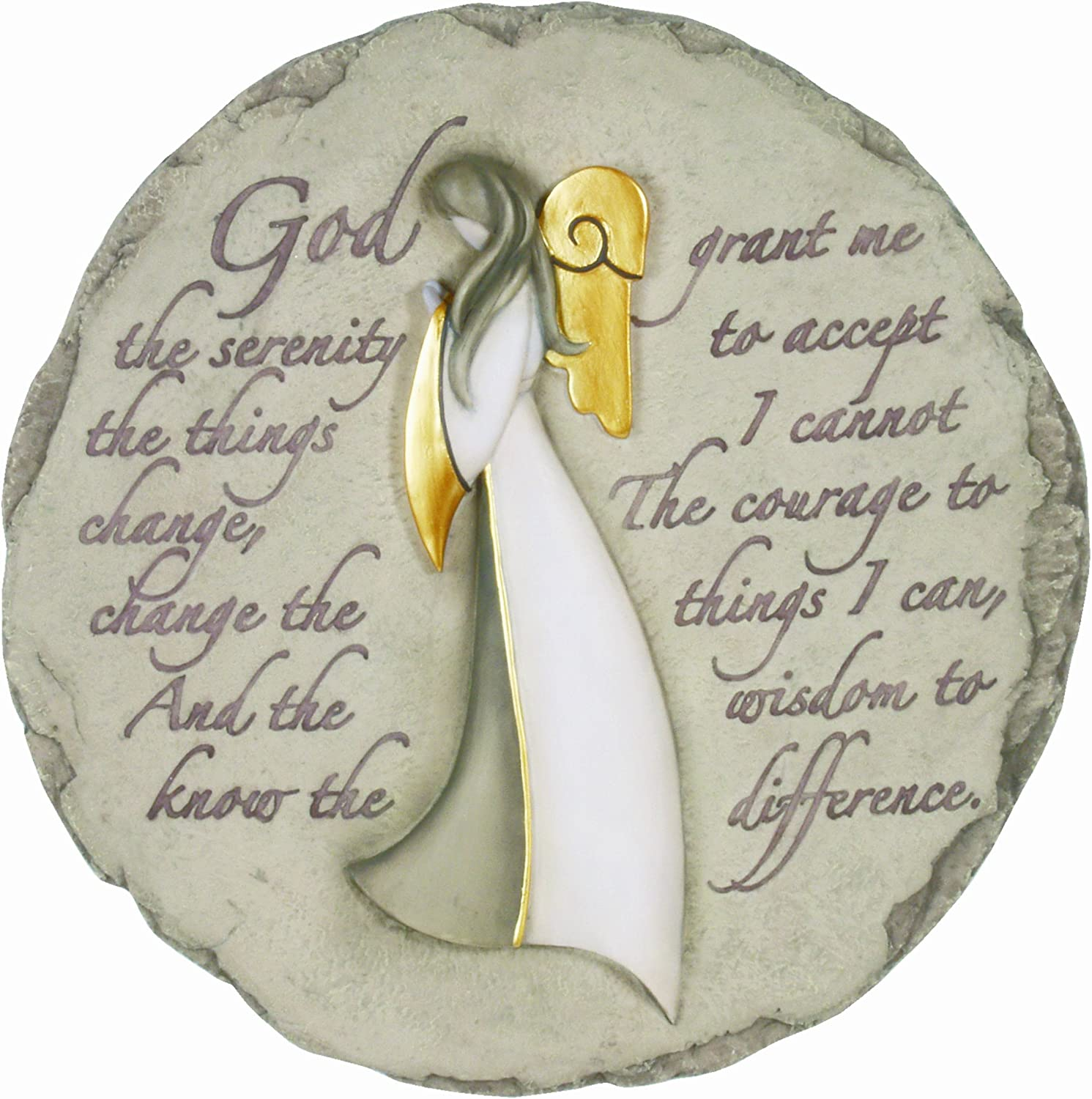 Spoontiques Angel with Serenity Prayer Stepping Stone
