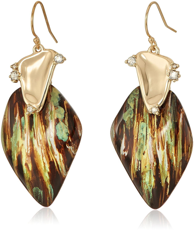 Amazon.com: Alexis Bittar Woven Raffia Hoop Wire Drop Earrings: Jewelry