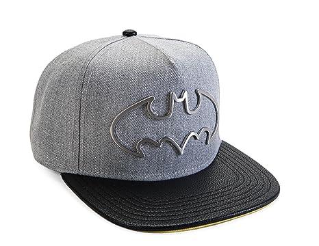 Image Unavailable. Image not available for. Color  DC Comics Batman Metal  Hollow Symbol Snapback Baseball Cap d5fe5a5f1c0